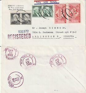 US-1962-COMMERCIAL-FLOWN-COVER-NEW-YORK-NY-TO-ARLINGTON-VA
