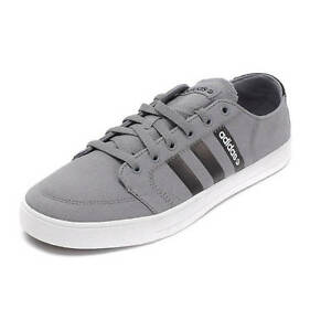 magasin en ligne 1aa2e 6a290 Details about adidas New Men's Vlneo Basket Ball Court Shoes Lo Trainers  Grey Black Sneakers