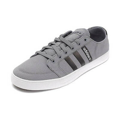 adidas New Men's Vlneo Basket Ball Court Shoes Lo Trainers Grey Black Sneakers