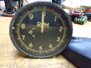 Vintage US Navy Aircraft Tachometer Gauge, General Electric 8dj57gab
