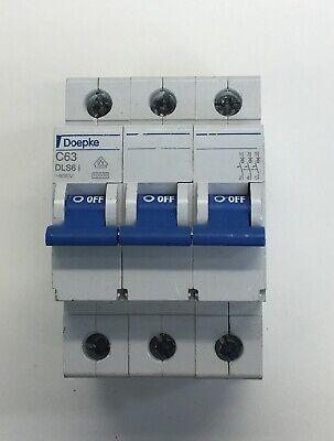 DOEPKE DLS6i C63 63AMP SINGLE POLE MCB MINATURE CIRCUIT BREAKER TRIP SWITCH