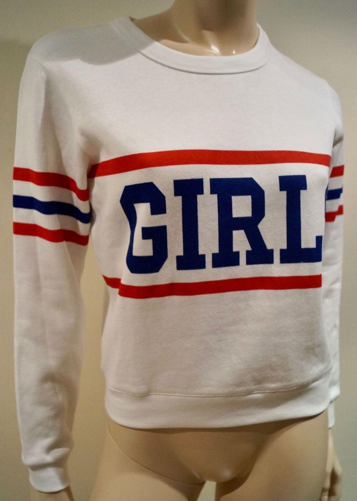 CLAUDIE PIERLOT Women's White Cotton Blend Jersey Sweater Jumper Top T1 UK8 BNWT