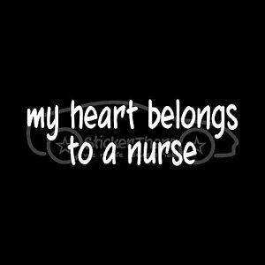 MY-HEART-BELONGS-TO-A-NURSE-Sticker-Vinyl-Decal-Wife-Doctor-Medical-Hospital-LPN