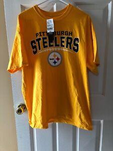 b173b9743e7 Pittsburgh Steelers Men's T-shirt NWT NFL Football Yellow Color XL ...