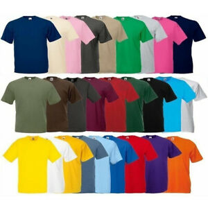 Fruit-of-the-Loom-Original-Cotton-Plain-Blank-Men-039-s-Tee-Shirt-Tshirt-T-Shirt-NEW