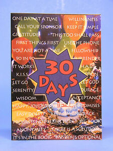 SOBRIETY GREETING CARD - ANNIVERSARY - 30 DAYS - RECOVERY   eBay