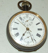 Antique Victorian Swiss Chronograph 17 Jewel Pocket Watch w/ 30 Minute Register