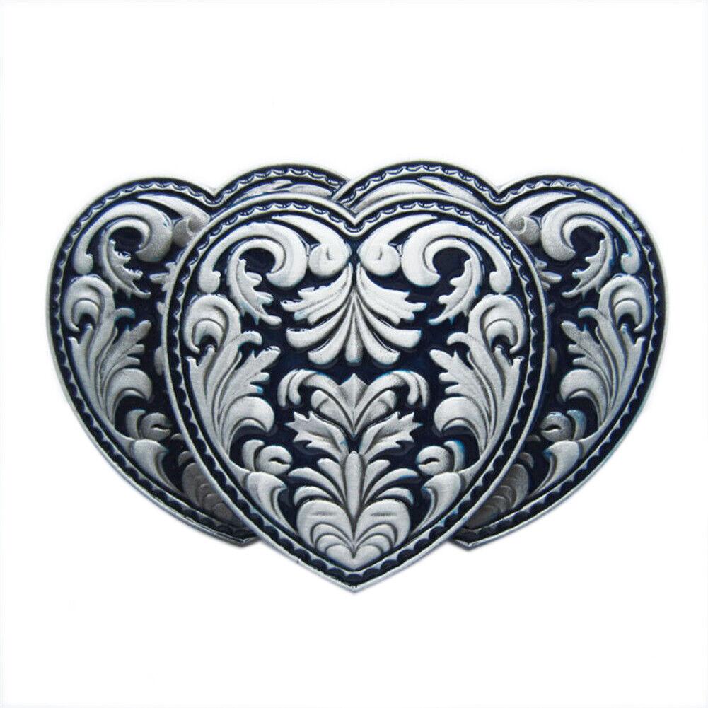 Triple Hearts IV Gürtelschnalle Heart Western Cowboy Saloon Herz Drei Herzen