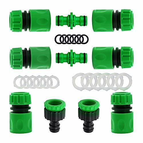 10 Pack Plastic Garden Hose Tap Connector Kit for Join Garden Hose Pipe Tube 2