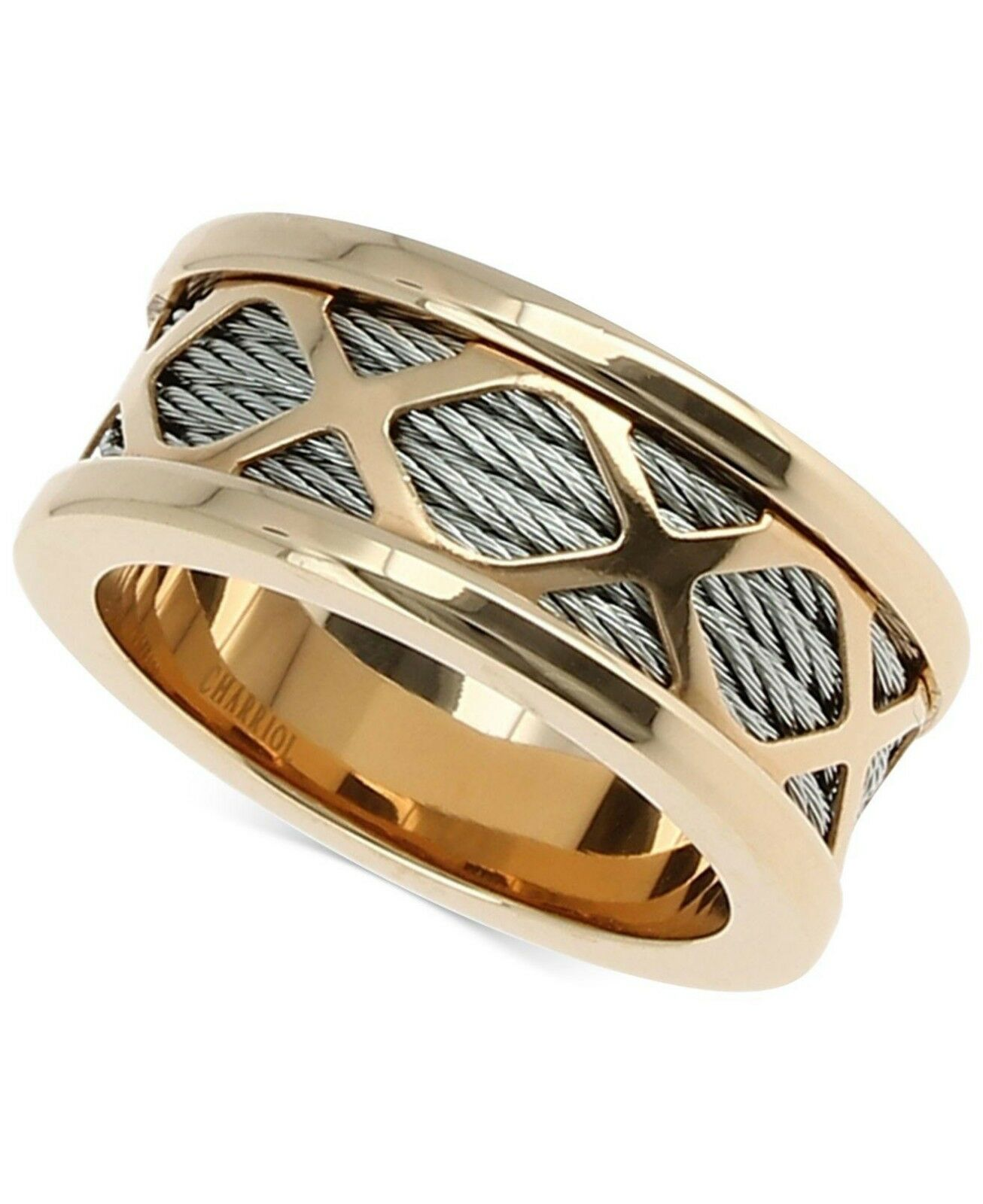 Charriol CHARRIOL Two-Tone Multi-X Cable Ring Two-Tone SIZE 6.5