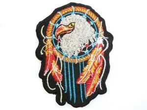 an07 Indianer Federn Aufnäher Bügelbild Applikation Flicken Patch 3,8 x 10,3 cm
