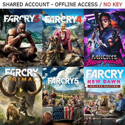 Far Cry 1 2 3 4 Primal 5 New Dawn Pc Steam Offline Read Description Ebay