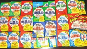 HUGE-LOT-OF-75-UNOPENED-OLD-VINTAGE-TOPPS-BASEBALL-CARDS-IN-5-WAX-RACK-PACKS