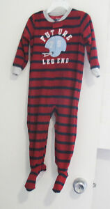 1fa54e1e9 Carter s Baby Boys Striped Future Legend Fleece Footed Pajamas Sz ...