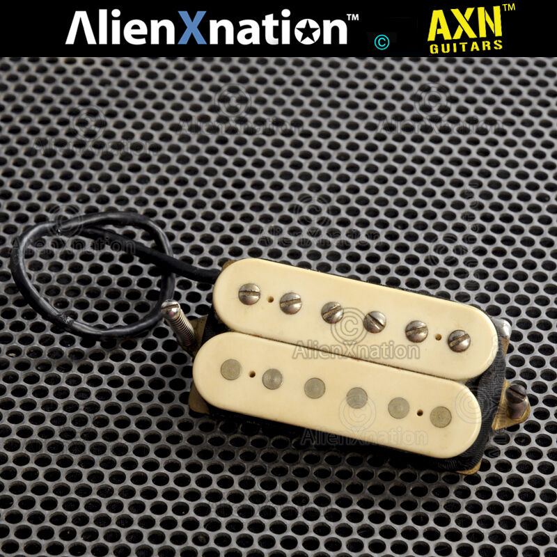 Dimarzio marked Patent Pending DP160 Norton Bridge Guitar Pickup F Spaced creme