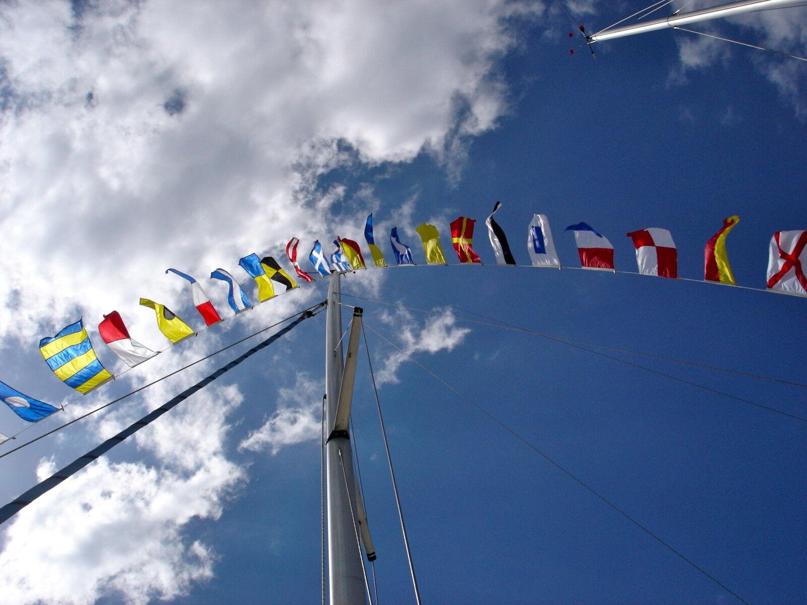 Signalflaggen Satz Watzki 45x35cm Internationales Flaggenalphabet neu OVP 45x28m