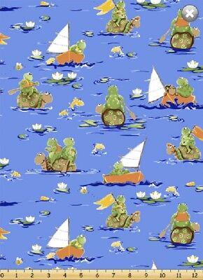Paul Sheldon Fishing Buddies SusyBee Cotton Quilt fabric Fish on Dark Blue