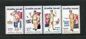 Thailand 792-795, MNH, 1976, Postal uniforms 4v. x27417