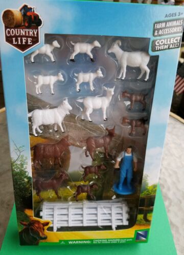 BONUS CATS NEW RAY FARM ANIMAL SETS ACCESSORIES = The GOAT  FARMER SET