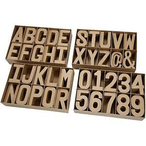 Letter Number Alphabet Paper Mache Craft Decorate