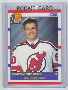 90 91 Score Martin Brodeur Rookie Card Rc 439 American Mint Ebay