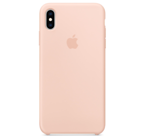 Echt-Original-Apple-iPhone-XS-Silikon-Huelle-Silicone-Case-Pink-Rosa-Sand