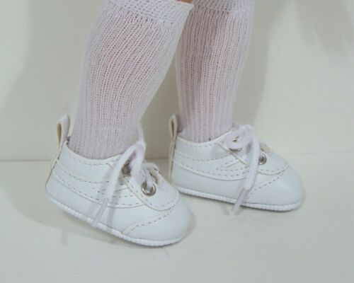 """Debs WHITE Gym Tennis SF Doll Shoes For 13/""""-14/"""" Corolle Les Cheries"""