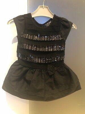 Metodico Per Bambina Next Nero Party Dress 9-12 Mesi-mostra Il Titolo Originale Colori Fantasiosi
