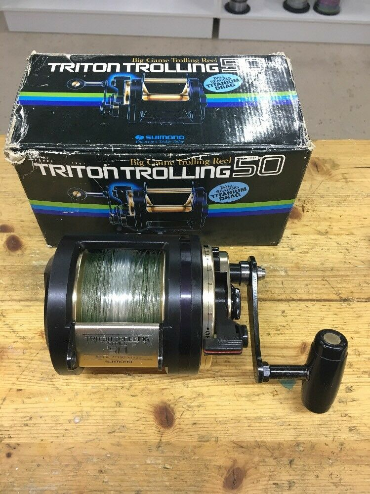 Shimano Triton Trolling Trolling Trolling 50 (Cal Sheets  bluprinted 2 Speed Function) 3cd322