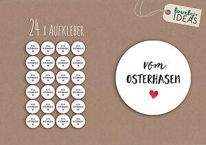 24-x-Geschenkaufkleber-034-vom-Osterhasen-034-40mm-weiss-Etiketten-Aufkleber-Sticker