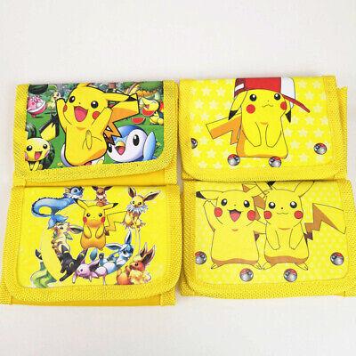 Pokemon Pikachu Children Kids Cartoon Character Wallet Coin Purse Toy
