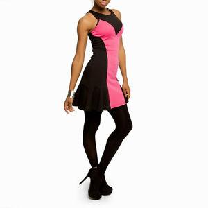 Minaj knit club party little black amp pink dress 11 13 size large nwt
