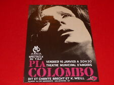 [Collection J. LE BOURHIS / AFFICHES] PIA COLOMBO ANGERS 1970 AMCA Rare! Brecht