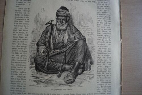 1883 Zeitungsdruck km / 14 / Libanon Ziegenhirte