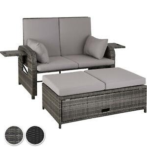 Häufig Aluminium Garten Lounge Poly Rattan Sofa 2-Sitzer Sonnenliege LP94