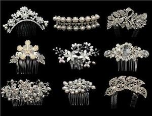 STUNNING-BRIDAL-WEDDING-CRYSTAL-RHINESTONES-DIAMANTE-HAIR-COMB-CLIP