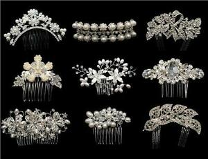 STUNNING-BRIDAL-WEDDING-CRYSTAL-RHINESTONES-DIAMANTE-HAIR-COMB-CLIP