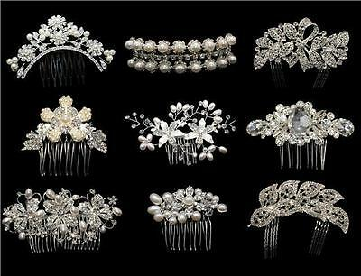Hair Slides with Elegant Crystal Diamante Design for Weddings and Hen Parties