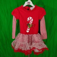 Girls Size 4 Christmas Dress Red Candy Cane by RARE EDITIONS