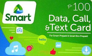 Smart P100 Data Call & Txt Prepaid Load Card