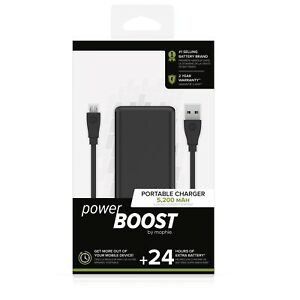 save off a0caa ac4b8 Details about Mophie Powerboost Portable Charger Power Bank 24 Hours Extra  Battery 5,200MAH