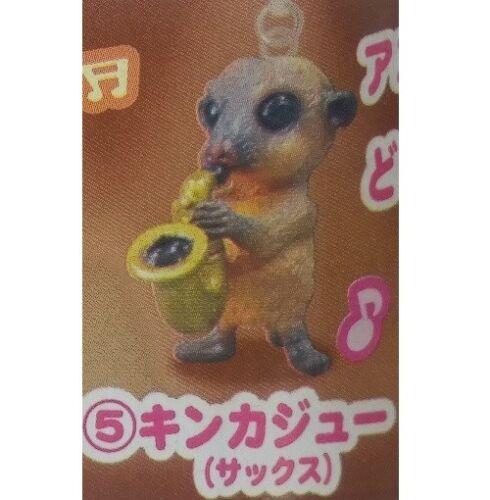 B58 Epoch Animal Band Kinkajou Play The Saxophone Gashapon Ornament Potos Flavus