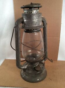 Details about Vintage Meva No  865 Glass Globe Kerosene Lamp Lantern Made  Czechoslovakia