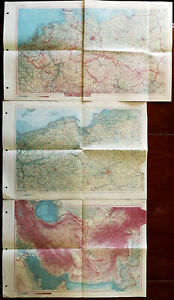 Atlas Swiata Vintage Maps of Poland, Iran/Afganistan and Central Europe