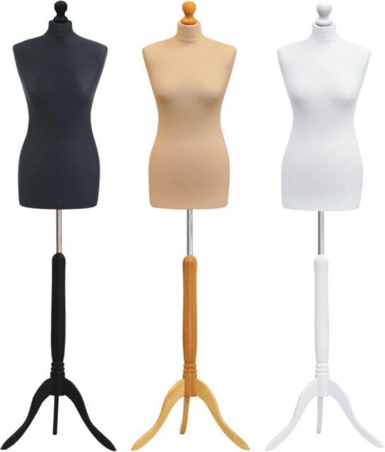 DELUXE FEMALE SIZE 18 Dressmakers Dummy Mannequin Tailor BLACK Bust BLACK Stand