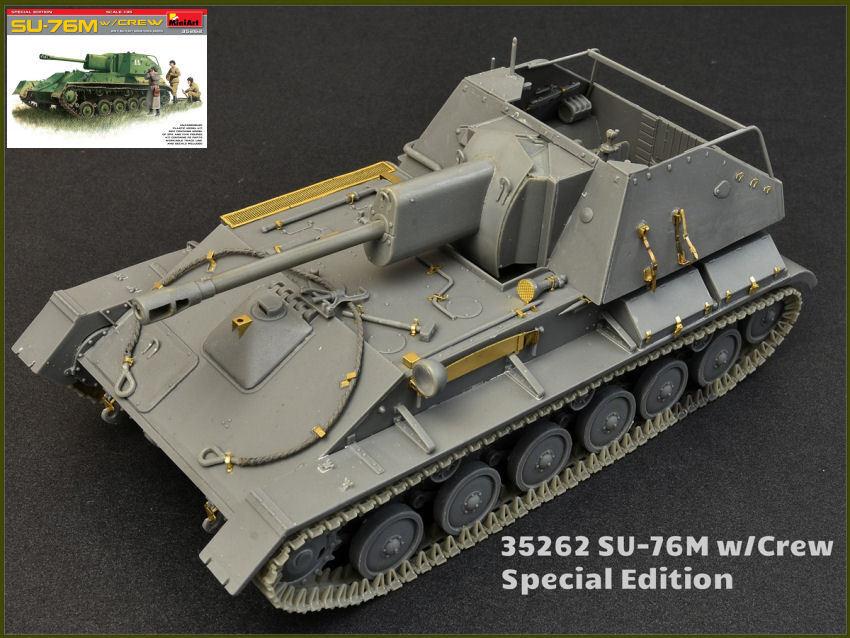 Su-76m tank w   crew sonderausgabe plastik - 1 - modell miniart