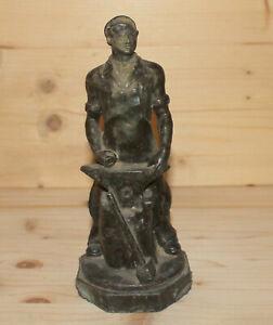 Antique-Soviet-Russian-hand-made-metal-blacksmith-figurine