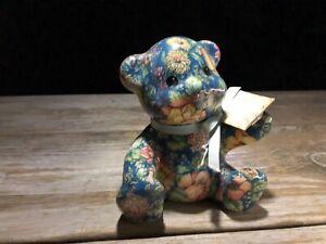 Joan-Baker-Porcelain-Patchworks-Bear-Blue-Sprint-5-034-Tall