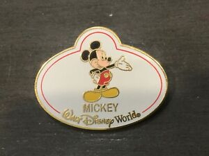 Disney Cast Member Walt Name Badge Mickey Mouse LE Pin