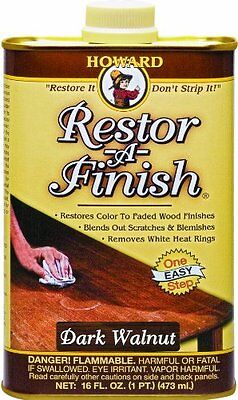 New Howard Restor-A-Finish Dark Walnut Color Wood Furniture Finish Restorer
